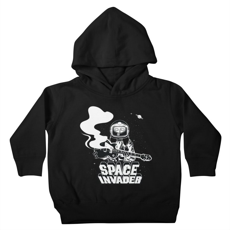 Space Invader Kids Toddler Pullover Hoody by Klick Tee Shop