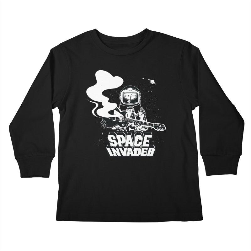 Space Invader Kids Longsleeve T-Shirt by Klick Tee Shop