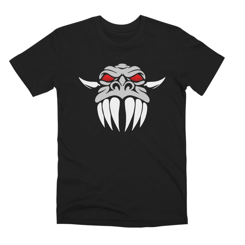 Dragon Face Men's Premium T-Shirt by Klick Tee Shop
