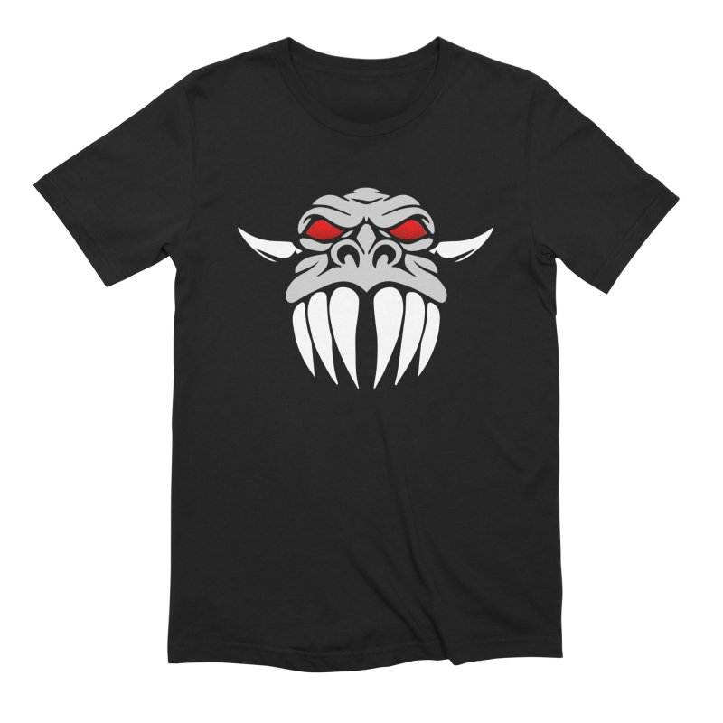 Dragon Face Men's Extra Soft T-Shirt by Klick Tee Shop