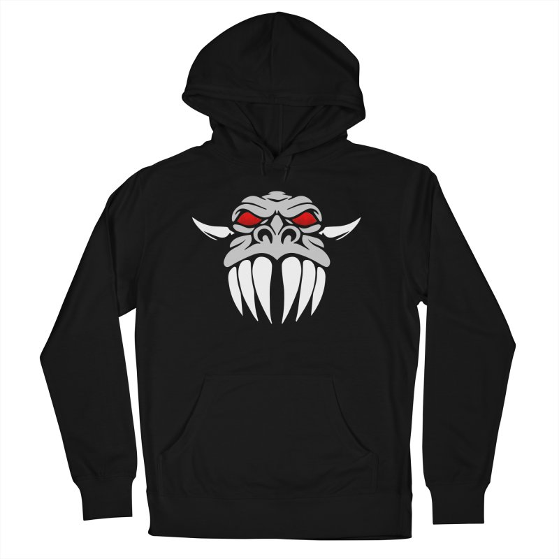 Dragon Face Men's French Terry Pullover Hoody by Klick Tee Shop