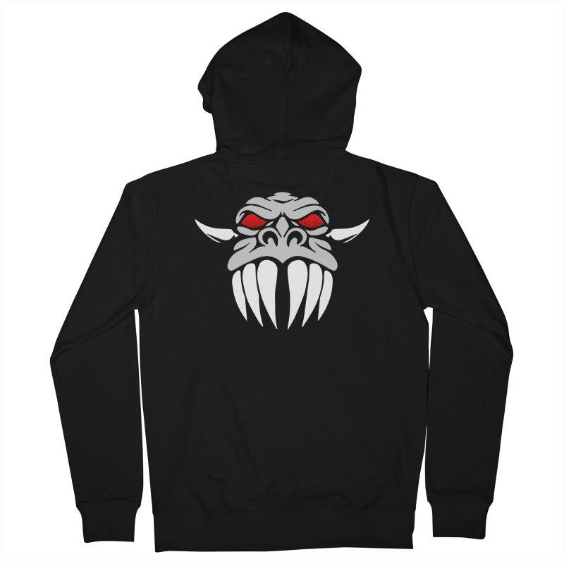 Dragon Face Men's Zip-Up Hoody by Klick Tee Shop