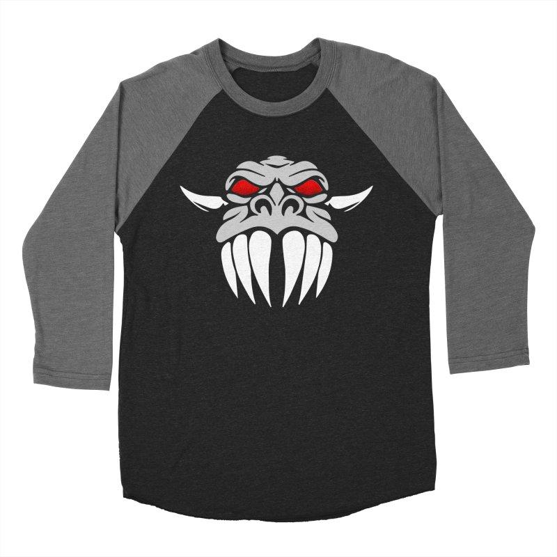 Dragon Face Men's Baseball Triblend Longsleeve T-Shirt by Klick Tee Shop