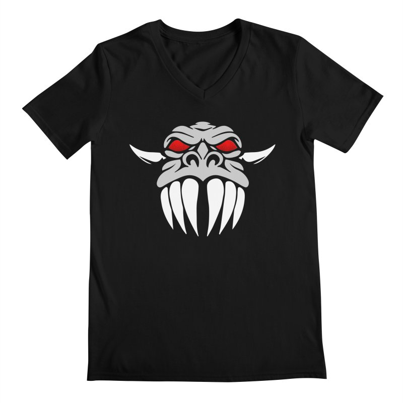 Dragon Face Men's V-Neck by Klick Tee Shop