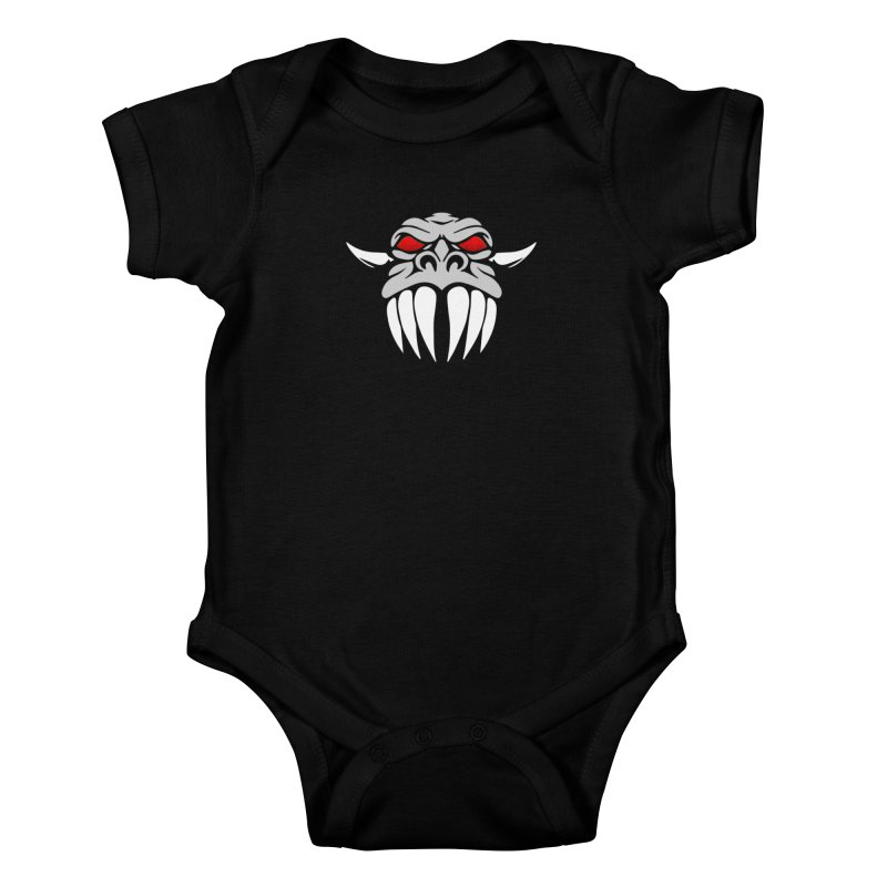 Dragon Face Kids Baby Bodysuit by Klick Tee Shop