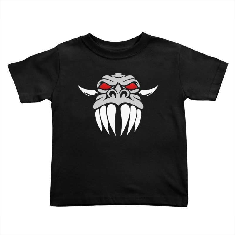 Dragon Face Kids Toddler T-Shirt by Klick Tee Shop