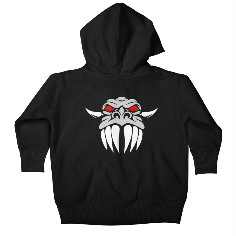 Dragon Face Kids Baby Zip-Up Hoody by Klick Tee Shop