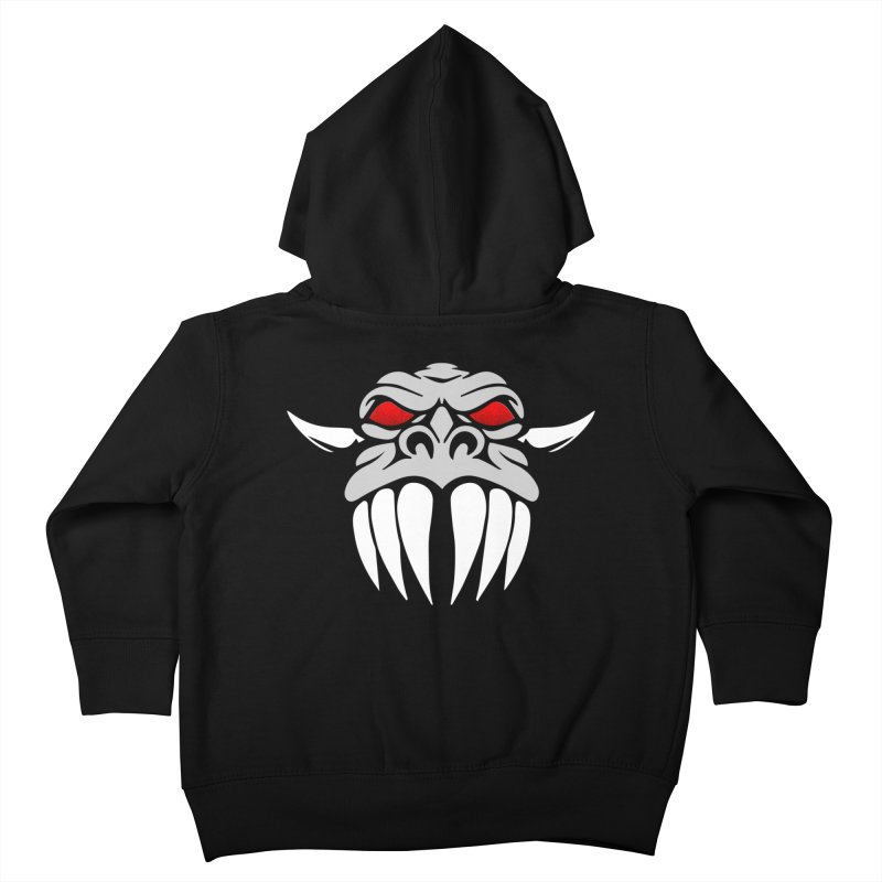 Dragon Face Kids Toddler Zip-Up Hoody by Klick Tee Shop