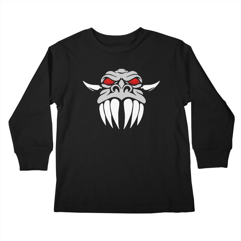 Dragon Face Kids Longsleeve T-Shirt by Klick Tee Shop