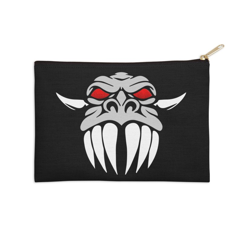 Dragon Face Accessories Zip Pouch by Klick Tee Shop