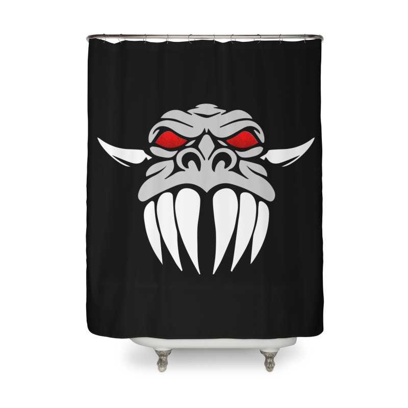 Dragon Face Home Shower Curtain by Klick Tee Shop