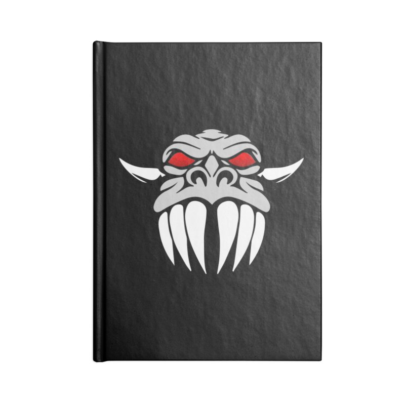 Dragon Face Accessories Blank Journal Notebook by Klick Tee Shop