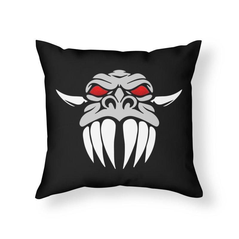 Dragon Face Home Throw Pillow by Klick Tee Shop