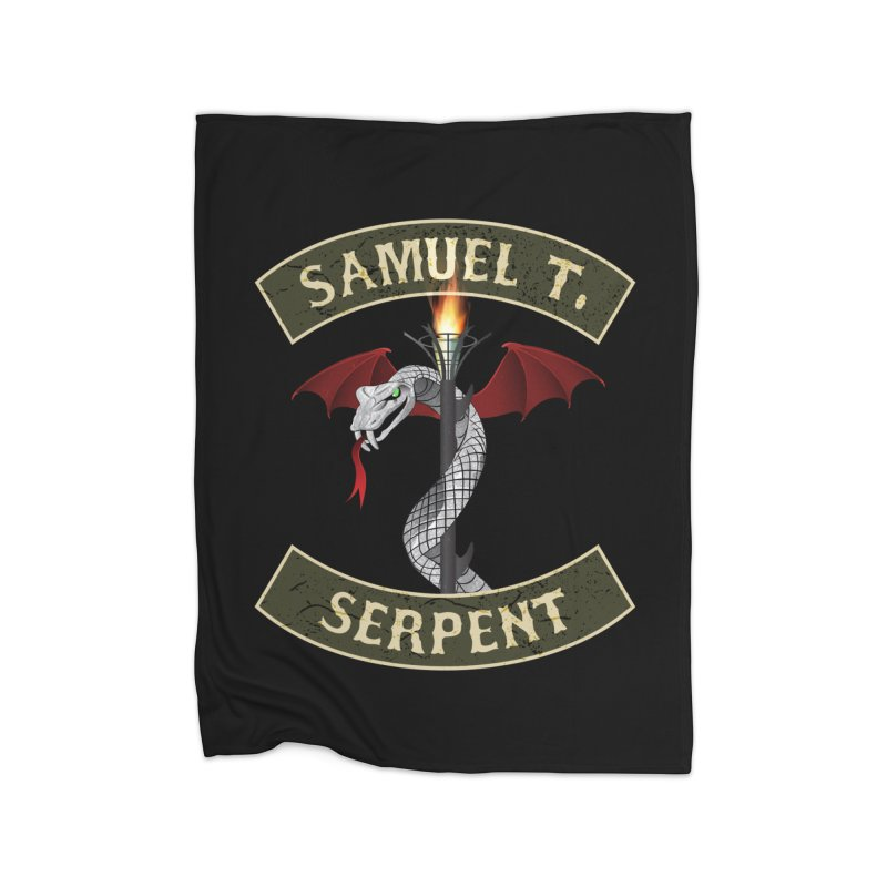Samuel T. Serpent Home Fleece Blanket Blanket by Klick Tee Shop