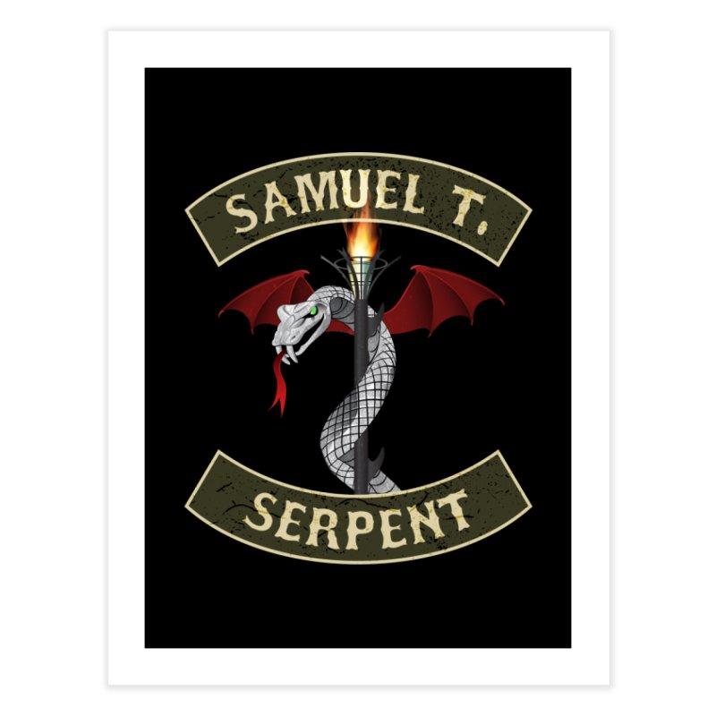 Samuel T. Serpent Home Fine Art Print by Klick Tee Shop