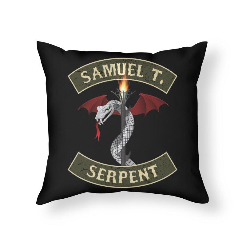 Samuel T. Serpent Home Throw Pillow by Klick Tee Shop