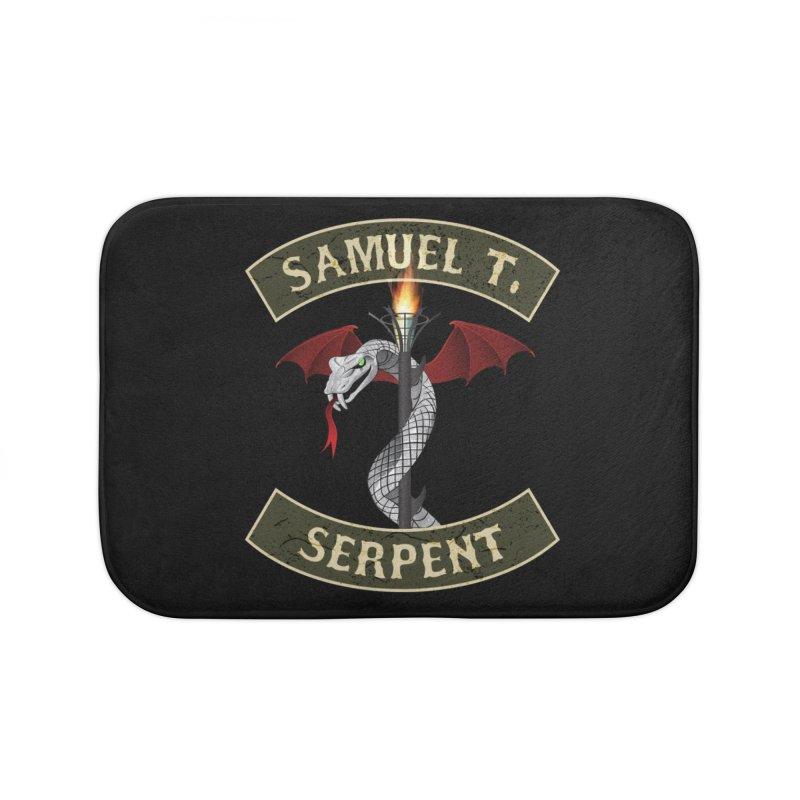 Samuel T. Serpent Home Bath Mat by Klick Tee Shop
