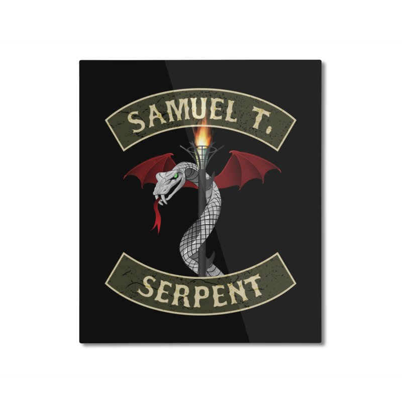 Samuel T. Serpent Home Mounted Aluminum Print by Klick Tee Shop