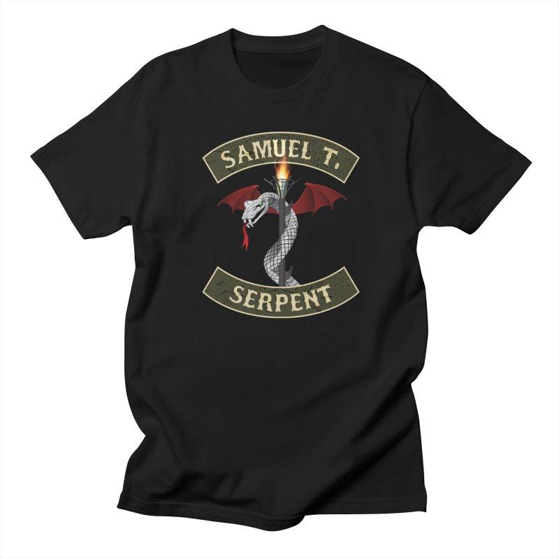 Samuel T. Serpent in Men's Regular T-Shirt Black by Klick Tee Shop