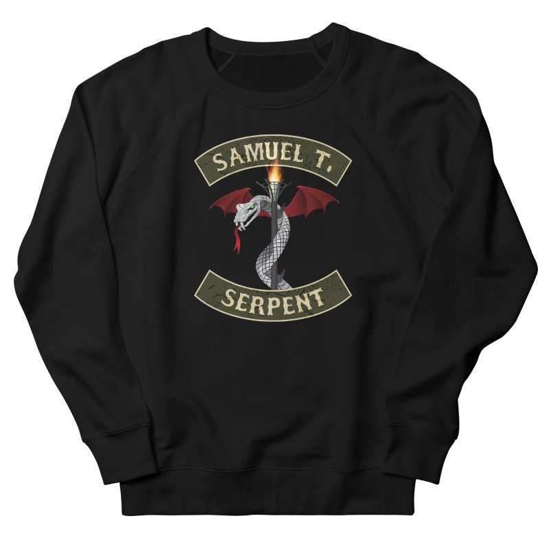 Samuel T. Serpent Women's French Terry Sweatshirt by Klick Tee Shop
