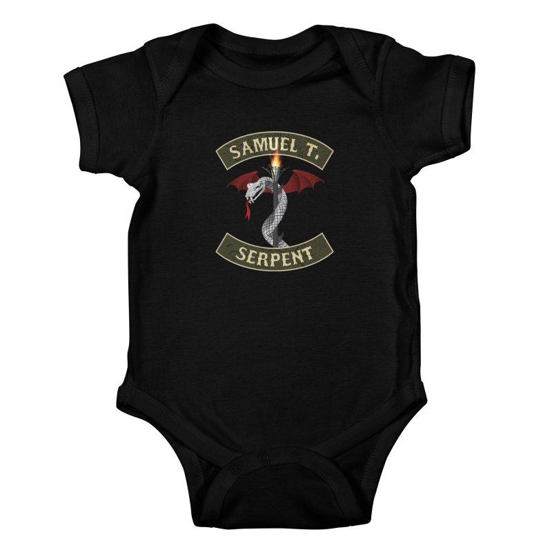 Samuel T. Serpent Kids Baby Bodysuit by Klick Tee Shop