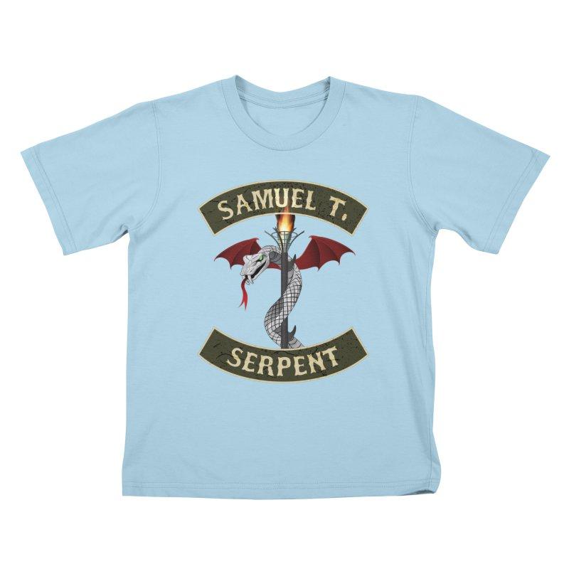 Samuel T. Serpent Kids T-Shirt by Klick Tee Shop
