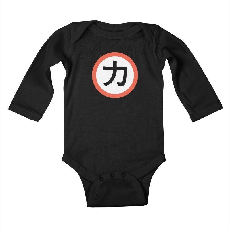 Chikara Kids Baby Longsleeve Bodysuit by Klick Tee Shop