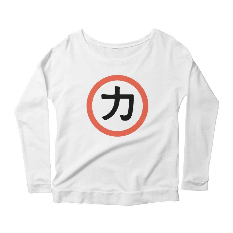Chikara Women's Scoop Neck Longsleeve T-Shirt by Klick Tee Shop