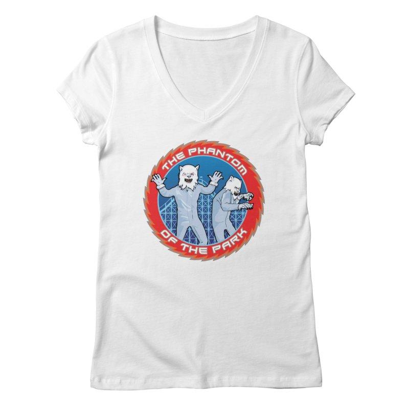 The Phantom of the Park Women's Regular V-Neck by Klick Tee Shop