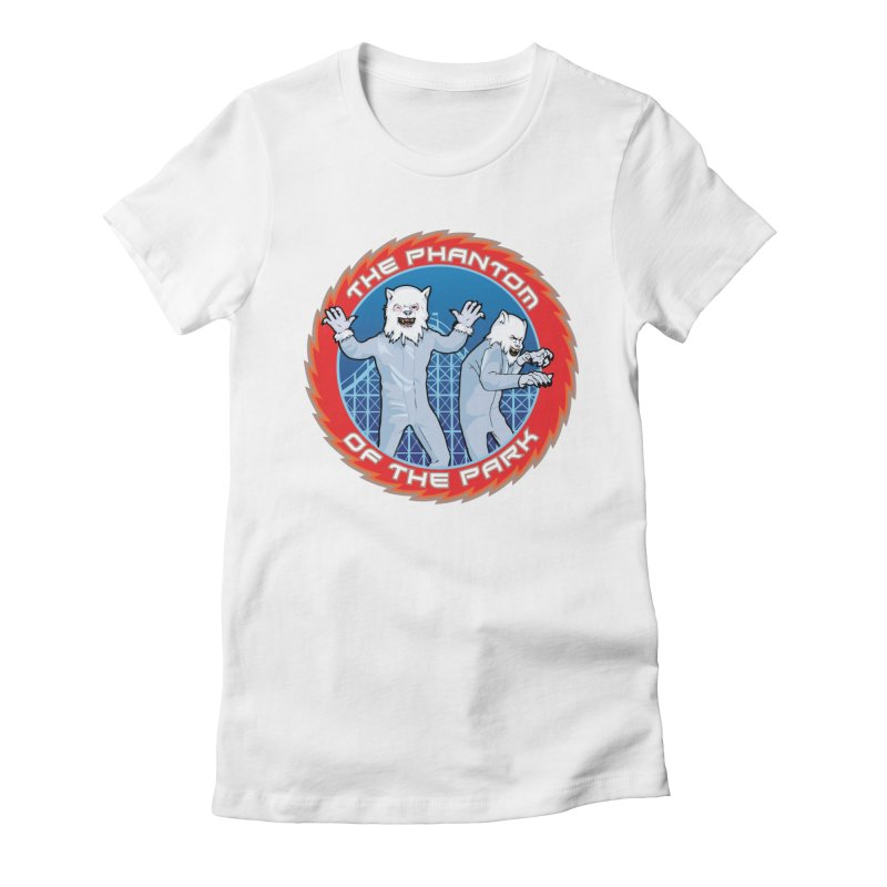 The Phantom of the Park Women's Fitted T-Shirt by Klick Tee Shop