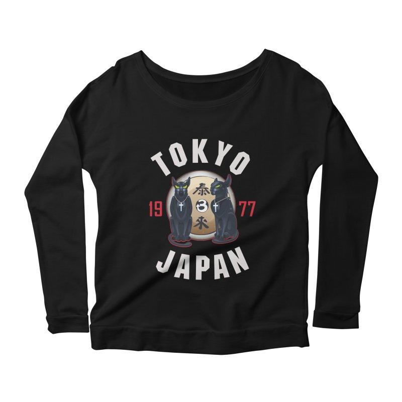 Tom & Jerry Tokyo '77 Women's Scoop Neck Longsleeve T-Shirt by Klick Tee Shop