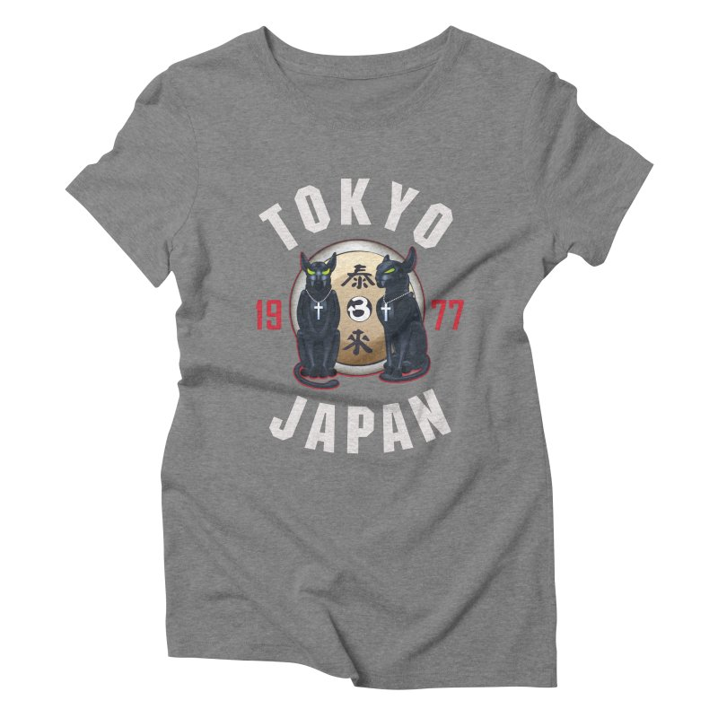 Tom & Jerry Tokyo '77 Women's Triblend T-Shirt by Klick Tee Shop