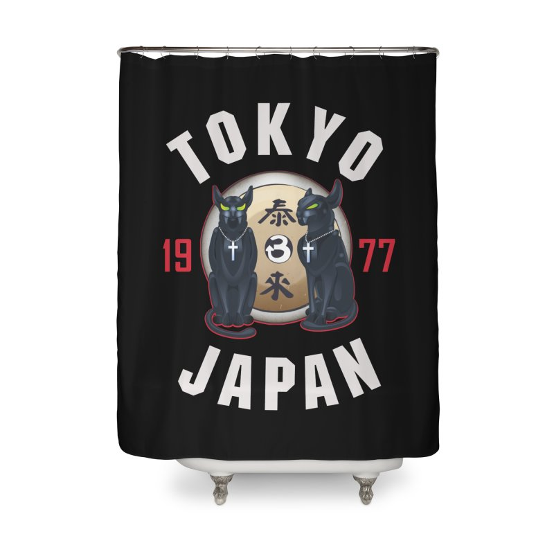 Tom & Jerry Tokyo '77 Home Shower Curtain by Klick Tee Shop