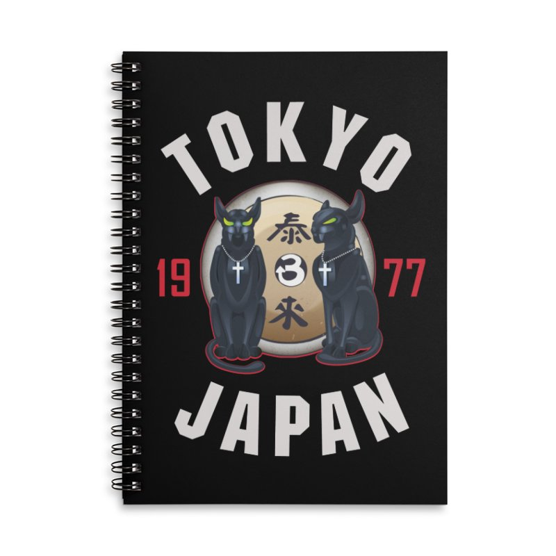 Tom & Jerry Tokyo '77 Accessories Lined Spiral Notebook by Klick Tee Shop