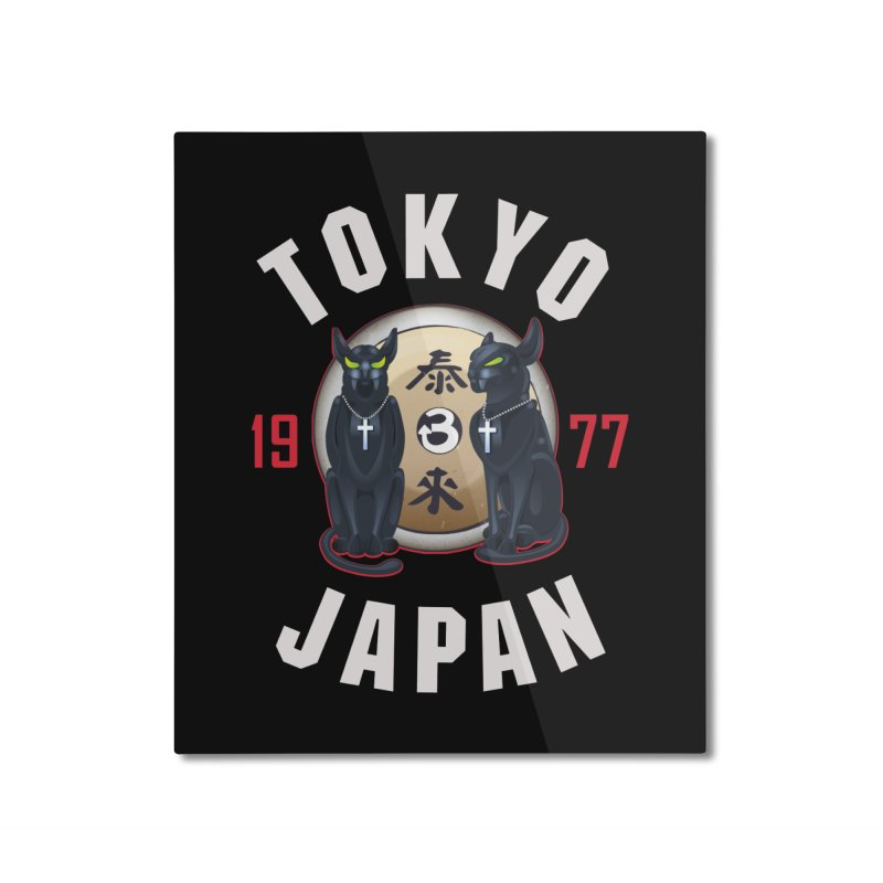 Tom & Jerry Tokyo '77 Home Mounted Aluminum Print by Klick Tee Shop