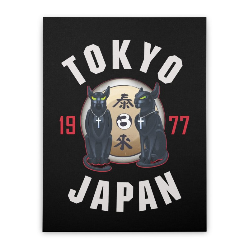 Tom & Jerry Tokyo '77 Home Stretched Canvas by Klick Tee Shop