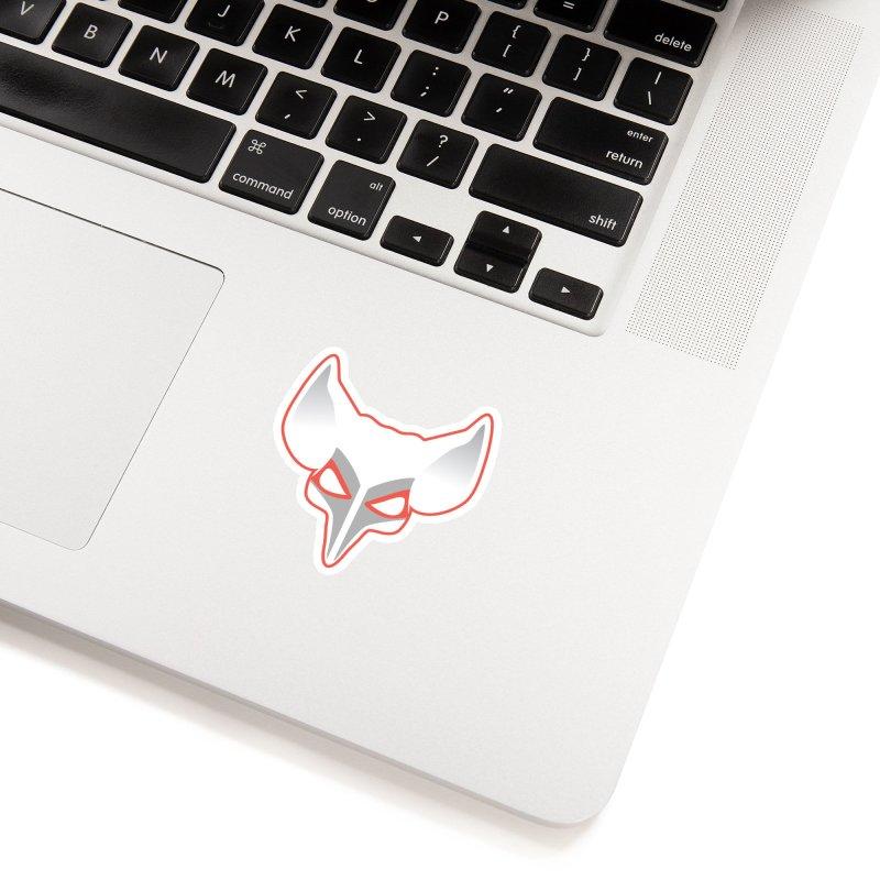 The Fox in White Sticker by Klick Tee Shop