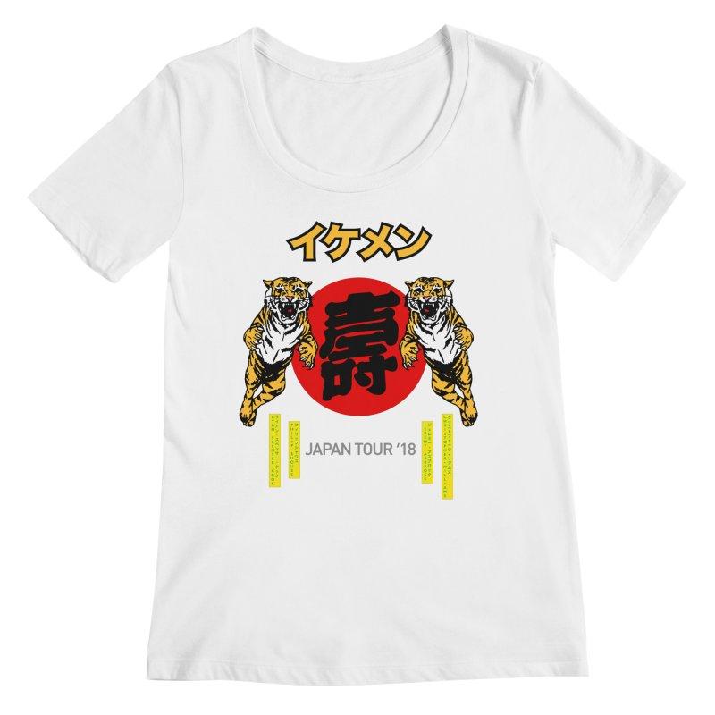 Ikemen Japan 2018 Women's Regular Scoop Neck by Klick Tee Shop