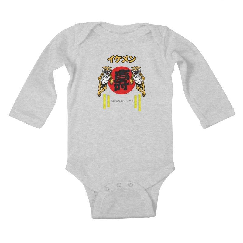 Ikemen Japan 2018 Kids Baby Longsleeve Bodysuit by Klick Tee Shop