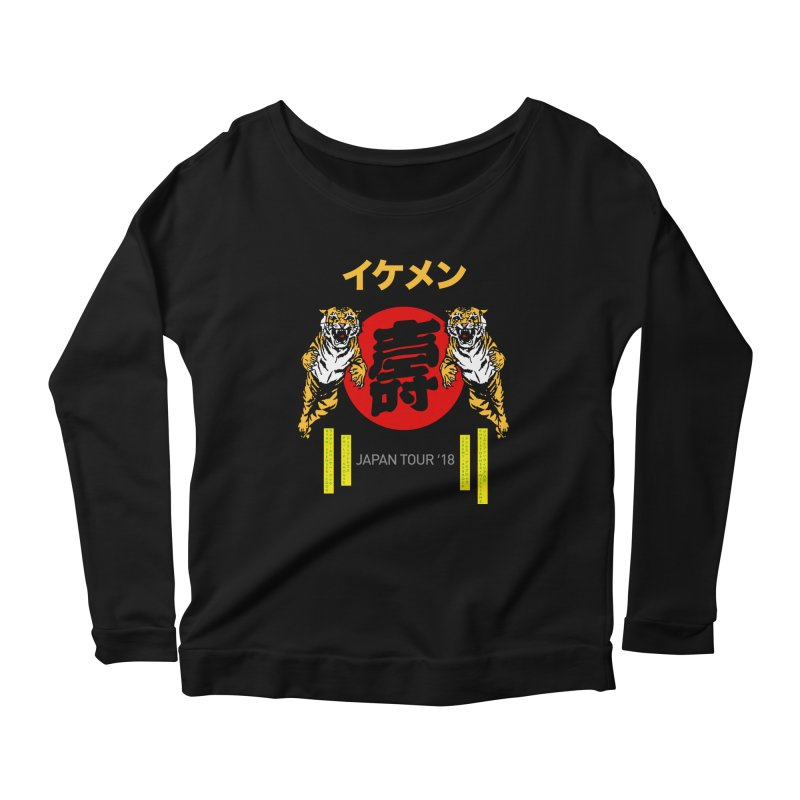 Ikemen Japan 2018 Women's Scoop Neck Longsleeve T-Shirt by Klick Tee Shop