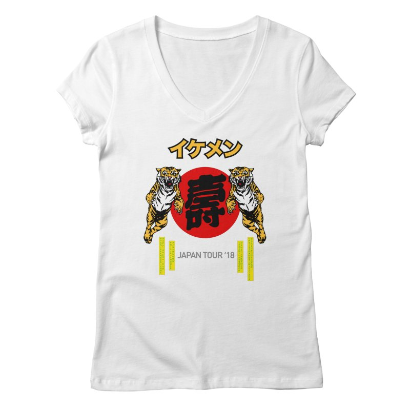 Ikemen Japan 2018 Women's Regular V-Neck by Klick Tee Shop