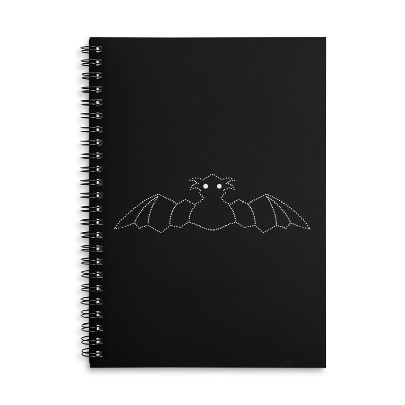 Bat Pants Accessories Lined Spiral Notebook by Klick Tee Shop