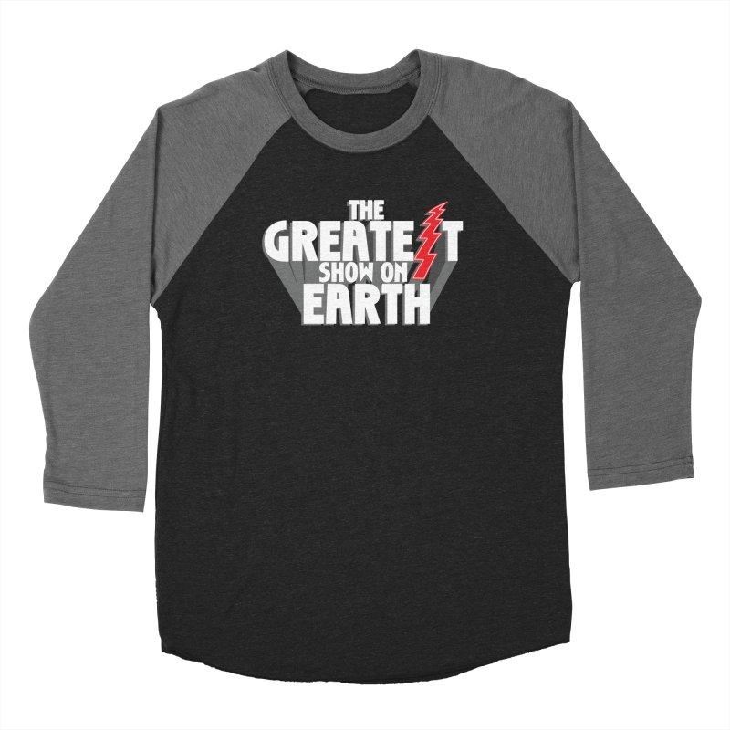 The Greatest Show On Earth Men's Baseball Triblend Longsleeve T-Shirt by Klick Tee Shop