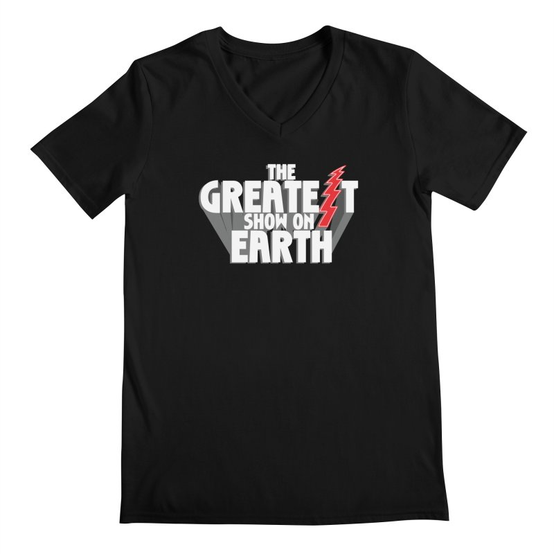 The Greatest Show On Earth Men's Regular V-Neck by Klick Tee Shop