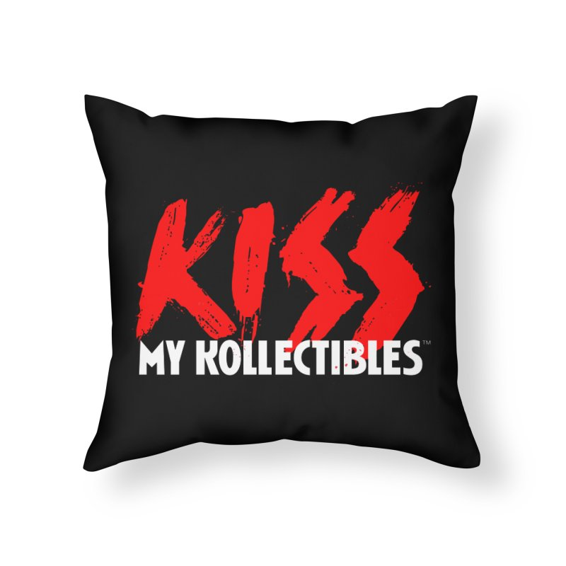 Kiss My Kollectibles Home Throw Pillow by Klick Tee Shop