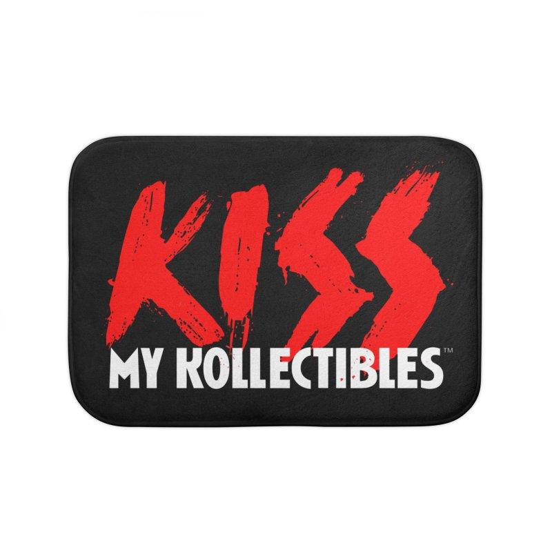 Kiss My Kollectibles Home Bath Mat by Klick Tee Shop