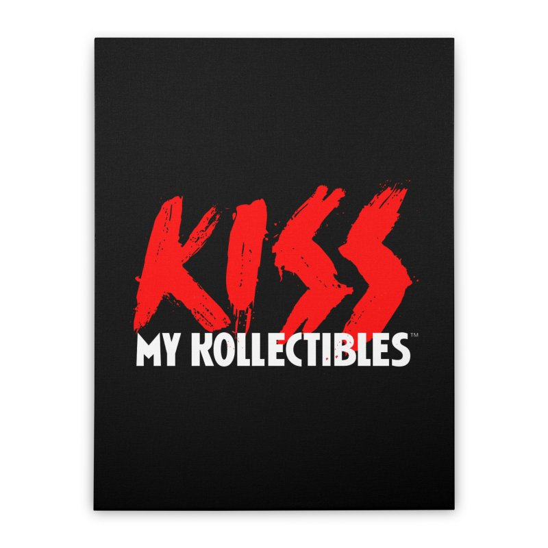 Kiss My Kollectibles Home Stretched Canvas by Klick Tee Shop