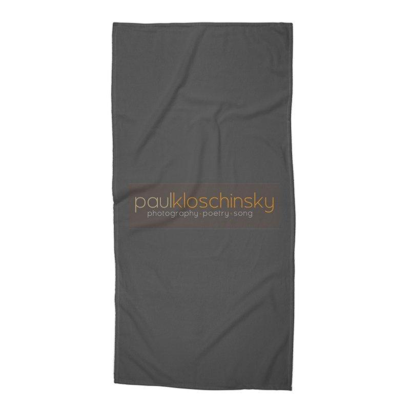 Paul Kloschinsky Logo Merchandise Accessories Beach Towel by kloschinsky's Artist Shop