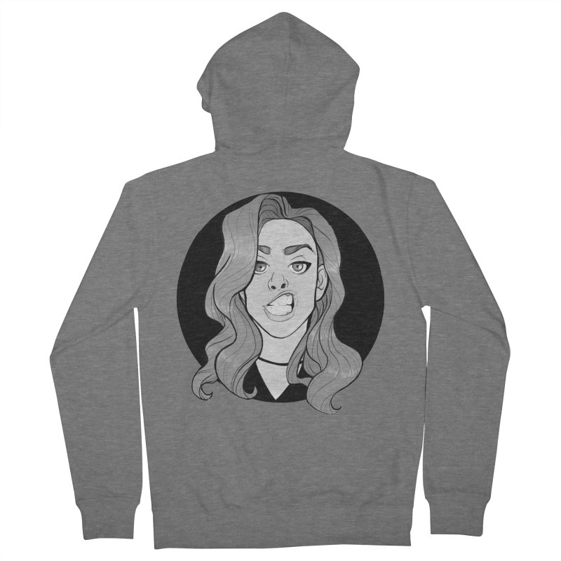 The Sneer Men's French Terry Zip-Up Hoody by The Shop of K. Lynn Smith