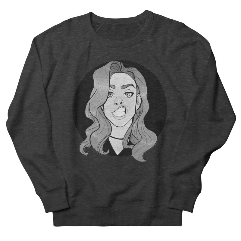 The Sneer Men's French Terry Sweatshirt by The Shop of K. Lynn Smith
